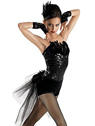 Jazz Performance Women's Feather And Tulle Ballet Jazz Outfit