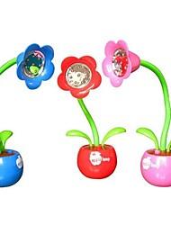 lâmpada flor leitura e escrita coway lâmpada maçã criativo noite levou luz (cor aleatória)