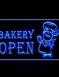 Boulangerie ouverte Promotion Vert Bleu Rouge Blanc Orange Violet Jaune Publicité LED Connexion