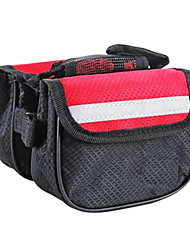 borsa telaio della bicicletta rossa nuckily 600d con il sacchetto del telefono mobile