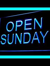 Открыть воскресенье Реклама светодиодные Вход