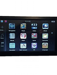7 Inch Touch Screen GPS Navigation (Support Mini USB, Games, Text Reader)
