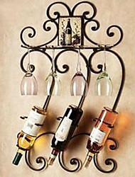 Metal Wall Art Iron Wall Decor Wine Rack Wall Art Two Color Optional Wall Decor