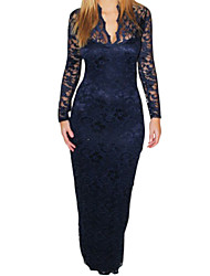 B Neck Lace Dress adapté des femmes