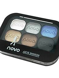 Six Colors Eyeshadow Powder