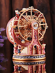 Vintage Ferries Wheel Design Color Painting Music Box