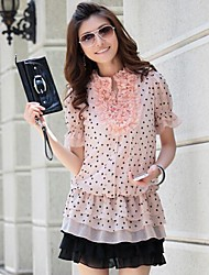 Women's Clothing Fashionable Fowers in Long Sleeve in Floral Chiffon Unlined Upper Garment