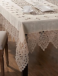 Handmade Tablecloth Embroidered Tablecloth .