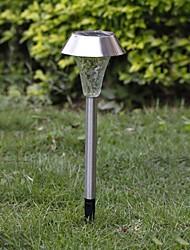 1-LED Whte Solar-Edelstahl-Rasen-Licht Pathway Gartenleuchte