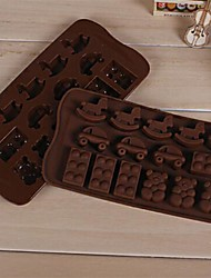 Cartoon Bear Car hobbyhorse Shape Cake Mold