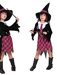 Cute Checkered The Flying Sorceress Kid Halloween Costume