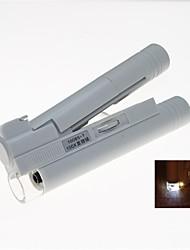 led portátil iluminado 100x microscópio binocular (2 x AA)