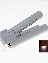 Portable LED illuminée 100x microscope binoculaire (2 x AA)