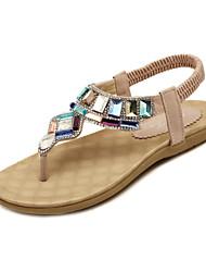 tacco piatto sandali T-strap con scarpe scintillio spumanti (più colori)