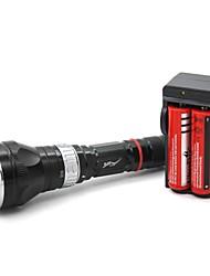 Lanternas de Mergulho (Foco Ajustável / Prova-de-Água / Recarregável / Resistente ao Impacto / Superfície Antiderrapante) - LED 5 Modo