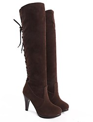Suede Women's Stiletto Heel  Riding Boots Knee High Boots (More Colors)