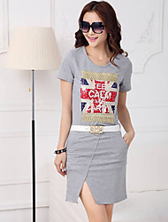 F&Y New 2014 Summer Western Style Euro Stand Series Womens Fashion Casual Slit Dress With Belt