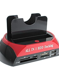 YuanBoTong 2.5/3.5 Inch All in 1 HDD Docking Station with Card Reader