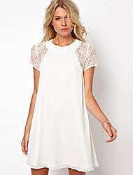 southstore elegante vestido de encaje de empalme