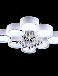 60W Flush Mount ,  Modern/Contemporary Chrome Feature for Crystal Metal Living Room