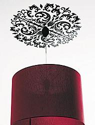 Createforlife ® Preto Chandelier ornamento crianças berçário da parede da sala de adesivos de parede decalques de arte