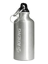KHENG 400ML Aviation Aluminum+Healthy Plastic White Warm Keeping Cycling Water Bottle