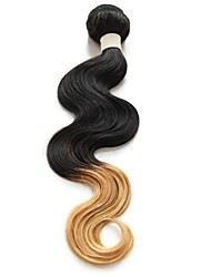 Brazilian Hair Body Wave two tone color Ombre Hair Extensions  Human Hair Weave 100g