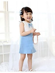 Girl's Blue Dress Cotton Summer