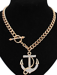 Welly Women's Vintage Boat Anchor Necklace
