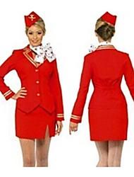 Uniforme Temperamento Girl Red Polyester Aviation