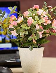 pastorales petites fleurs de simulation romance pot rurales artificielle plante en pot plastique
