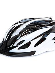 kingsir 18 aberturas eps + pc preto branco integralmente moldado capacete ciclismo (58-63 centímetros)