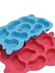 "Melting Clocks Ice Mould Silicone Ice Cubes (Random Color) ,Silicone 7.88""X5""X0.8"""