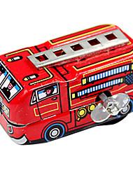 crianças de caminhão mola de metal nostálgico artesanal de bombeiros do brinquedo de lata (vermelho)