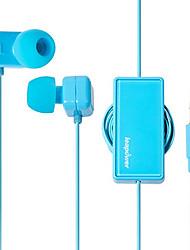 leapower winding headphones retractable line in-Ear Earphones