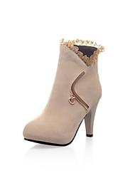 botines de moda tacón grueso de las mujeres del ante (más colores)