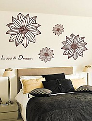 Createforlife® Flower Love Dream Kids Nursery Room Wall Sticker Wall Art Decals