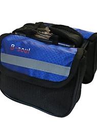 b-Seele 600d Polyester blau wasserdicht tragbar Fahrradrahmentasche mit Reflexstreifen