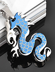 Fashion Vivid Chinese Dragon Shape Titanium Steel Pendants(More Color) (1 Pc)