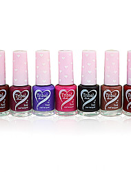 Fragrance Oily Nail Polish with Love Design Bottle NO.36-42(7ml,Assorted Color)