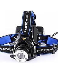 Head Front White Sports Flashlight  XPE LED Headlamp(4000lm, 2x18650,black)