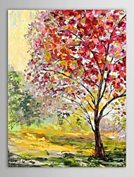 Hand Painted Oil Painting Landscape  Trees in Autumn  with Stretched Frame