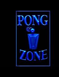 publicidad zona pong llevó la muestra de la luz