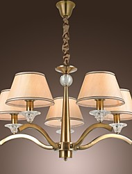 Vintage Chandelier, 5 Light, Classic Fabric Metal Painting