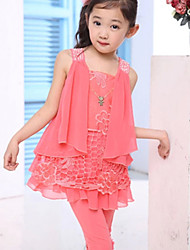 BB&B 2014 Girl's Summer New Bat Shirt and 2/5 Length Trousers Cute Suit