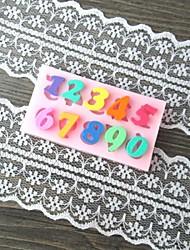 número carta em forma de molde do bolo fondant assar, l6.1cm * * w3.2cm h0.7cm