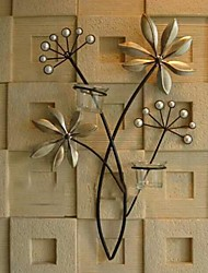 Metal Wall Art Wall Decor With Pearls Of The Candlestick Wall Decor