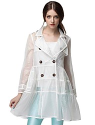 Women's Autumn Long Sleeve Outerwear Transparent Outerwear