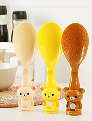 Cartoon Plastic Stick Rice Spoons(Assorted Color)