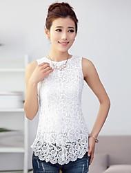 Women's Sleeveless Lace Splicing Tank